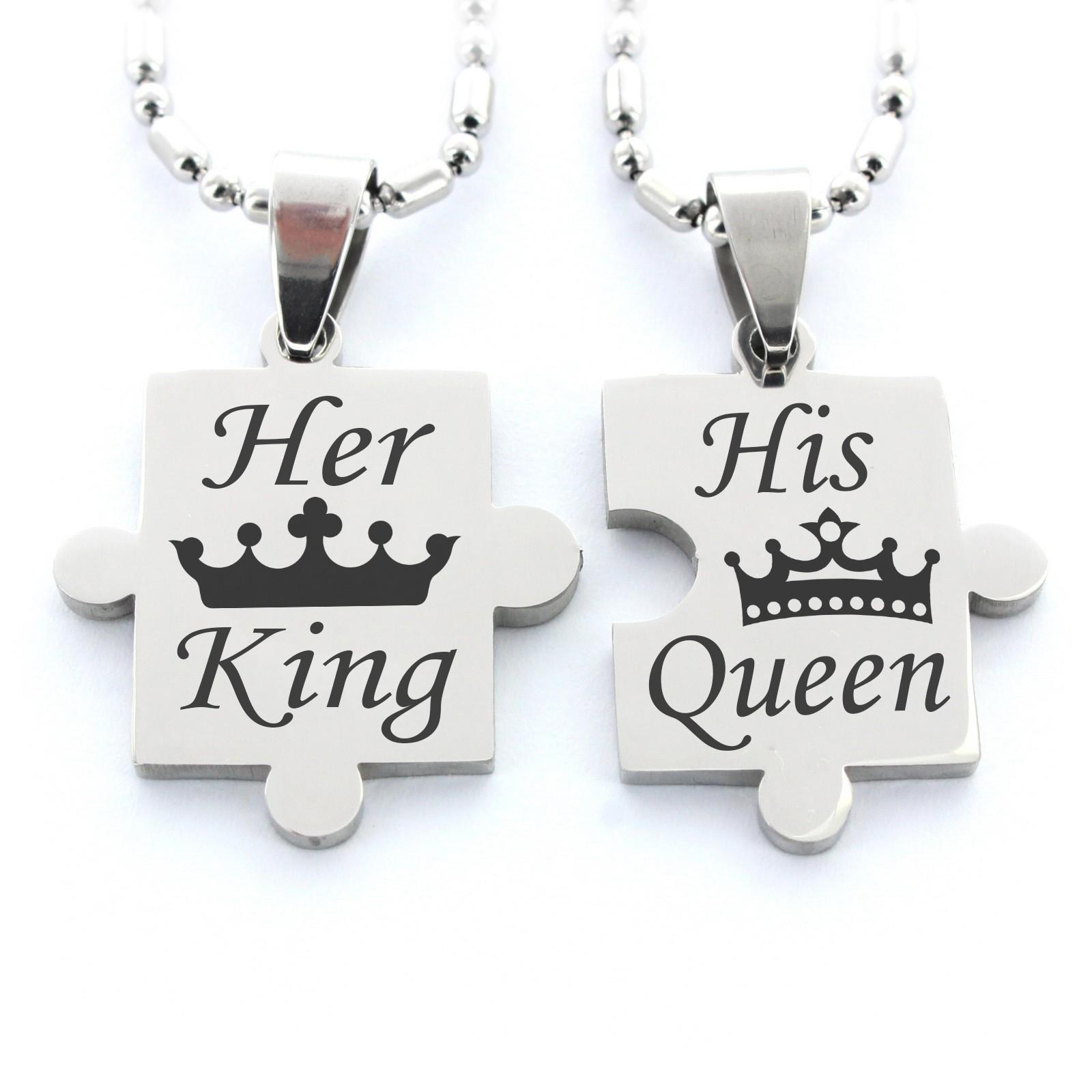 partner anh nger puzzleteile his queen her king. Black Bedroom Furniture Sets. Home Design Ideas