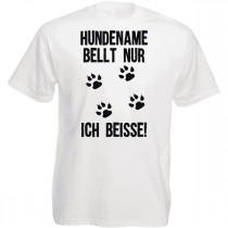 Funshirt weiß oder schwarz - Hund bellt nur