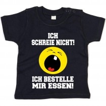 Kinder - Babyshirt Modell: Ich schreie nicht