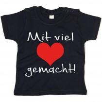 Kinder - Babyshirt Modell: Mit viel Herz gemacht