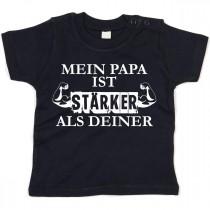 Kinder - Babyshirt Modell: Mein Papa ist stärker als deiner
