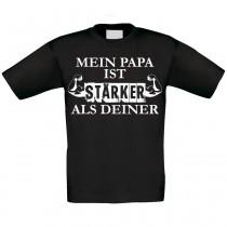Kinder T-Shirt Modell: Mein Papa ist stärker als deiner