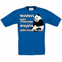Kinder T-Shirt Modell: Mama war schwanger