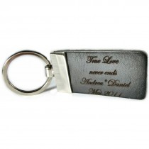 Gravur Edler Vollrind Leder Schlüsselanhänger 6 cm lang