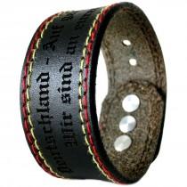 Gravur Leder Armband 3 cm - Deutschland