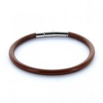 Gravur Lederarmband 0,5 cm rund mit Hebeldruckverschluss