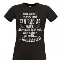 Damen T-Shirt Modell: Ein Rad ab