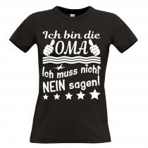 Damen T-Shirt Modell: Ich bin die Oma