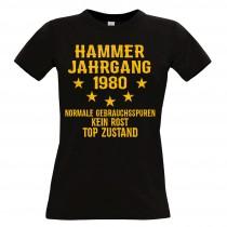 Damen T-Shirt Modell: Hammer Jahrgang - Jahreszahl wählbar
