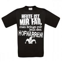 Herren T-Shirt Modell: Heute ist mir Fad