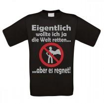 Herren T-Shirt Modell: Die Welt retten