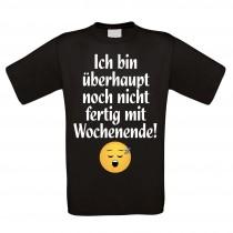Herren T-Shirt Modell: fertig mit Wochenende
