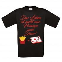 Herren T-Shirt Modell: Pommes und Disco
