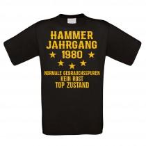 Herren T-Shirt Modell: Hammer Jahrgang - Jahreszahl wählbar
