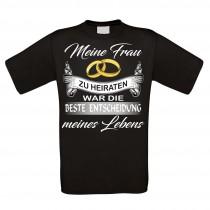 Herren T-Shirt Modell: Meine Frau - Die beste Entscheidung