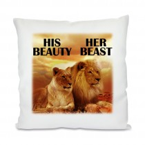 Kissen mit Motiv Modell: His Beauty - Her Beast