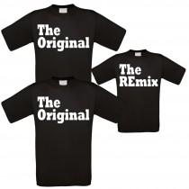 Familienshirts schwarz in verschiedenen Ausführungen - The Original - The Remix