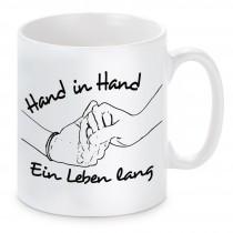 Tasse Modell: Hand in Hand