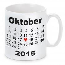 Tasse Modell: Herztag Kalender