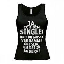 Damen Tank Top Modell: Ja ich bin Single