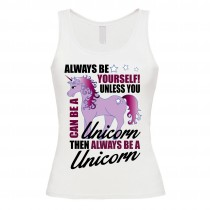 Damen Tank Top Modell: Always be yourself
