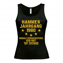 Damen Tank Top Modell: Hammer Jahrgang - Jahreszahl wählbar