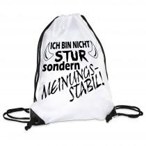 Turnbeutel Modell: Ich bin nicht stur