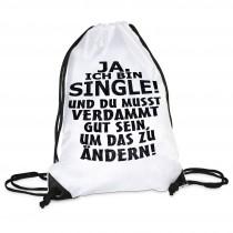 Turnbeutel Modell: Ja ich bin Single