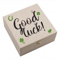 "Hufeisen-Box mit Motiv ""Good Luck"""