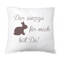 Kissen  - Der einzige Hase für mich bist Du!
