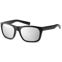 Sonnenbrille - Farbe schwarz, Gläser silberverspiegelt