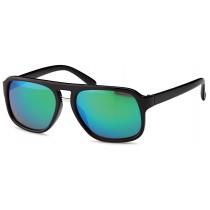 Sonnenbrille - Farbe schwarz, Gläser blauverspiegelt