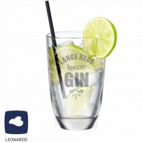 "Leonardo GIN-Glas ""Lange Rede, kurzer GIN"""