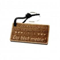 Gravur Schlüsselanhänger aus Holz Modell: Definition von Glück