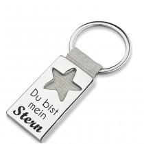 Metall Schlüsselanhänger Modell: Du bist mein Stern