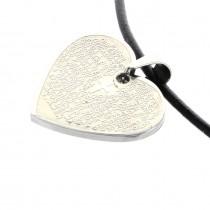 Edelstahl Herz Anhänger mit Lasergravur
