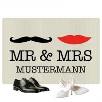 Fußmatte - Mr & Mrs mit Familien-Namen