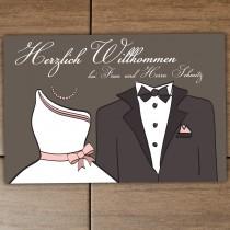 Fußmatte - Modell: Brautpaar - personalisierbar