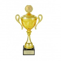 Goldener Pokal mit Gravur
