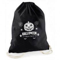 """Halloween schwarzer Süßigkeitenbeutel Rucksack  """"Trick or Treat"""""""