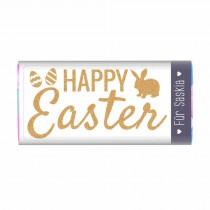 """Osterschokolade """"Happy Easter"""" mit Namensaufdruck"""