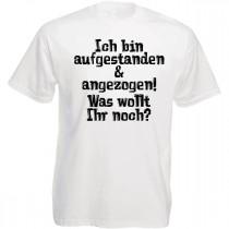 Funshirt weiß oder schwarz - Was wollt Ihr noch?