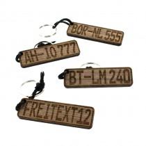 Gravur Schlüsselanhänger aus Holz Modell: Wunschkennzeichen