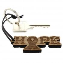 Gravur Schlüsselanhänger aus Holz - Modell: Hope