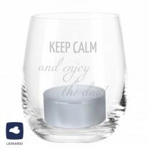 "Windlicht ""Keep calm and enjoy the day"""