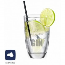 "Leonardo GIN-Glas ""Let the evening be GIN"""