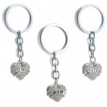 Schlüsselanhänger in Herzform mit Banner