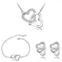 Schönes Schmuckset / Halskette, Armband und Ohrringe