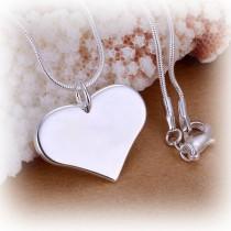 Halskette mit silber Herz Anhänger