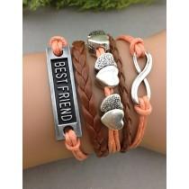 Armband Best Friend mit Herzen und Unendlichkeitszeichen